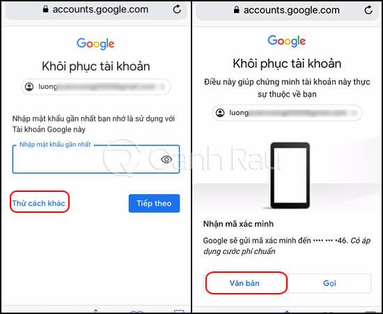 Hướng dẫn cách lấy lại mật khẩu Gmail hình 9