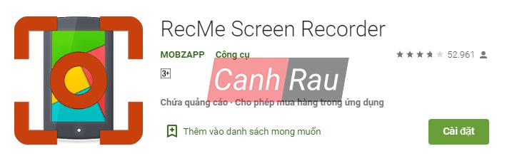 Phần mềm quay màn hình Android hình 3
