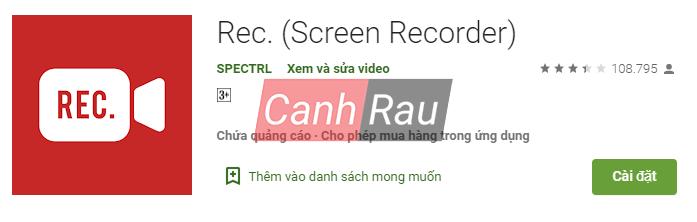 Phần mềm quay màn hình Android hình 9