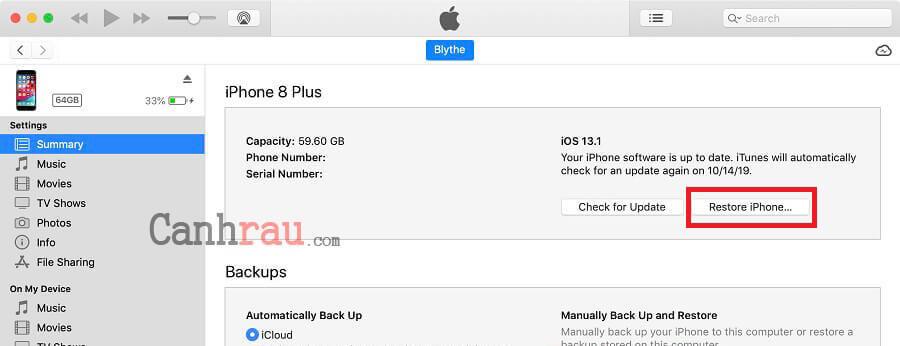 Sửa lỗi iPhone không lên nguồn hình 4