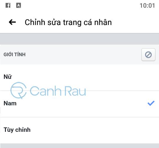 Cách đổi giới tính trên Facebook hình 9