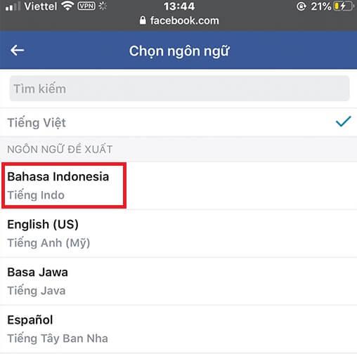 Cách đổi tên Facebook 1 chữ hình 28