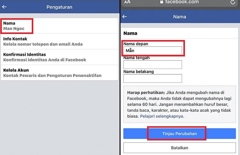 Cách đổi tên Facebook 1 chữ hình 30