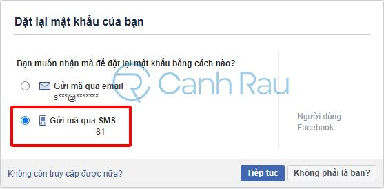 Cách lấy lại mật khẩu Facebook khi quên hình 8