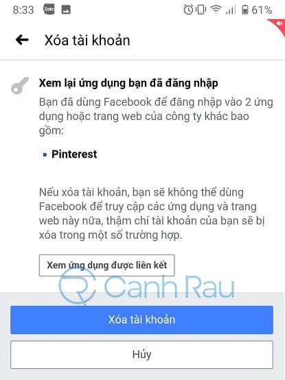 Cách xóa tài khoản Facebook hình 11