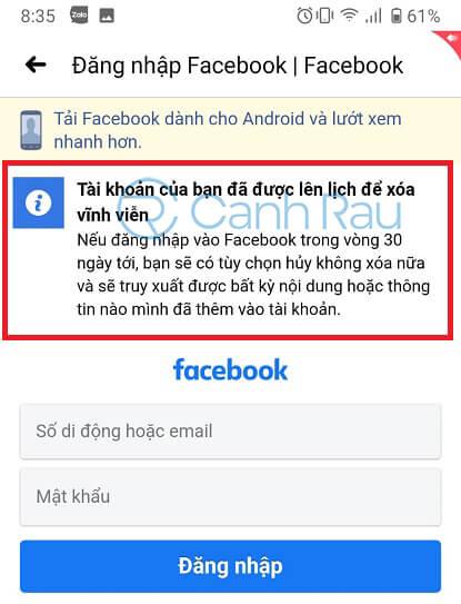 Cách xóa tài khoản Facebook hình 14