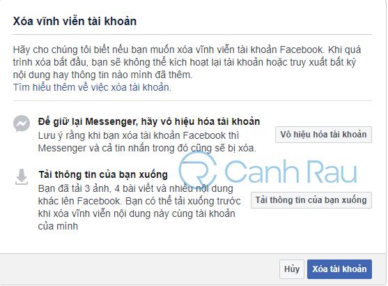 Cách xóa tài khoản Facebook hình 5