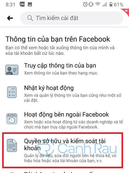 Cách xóa tài khoản Facebook hình 7