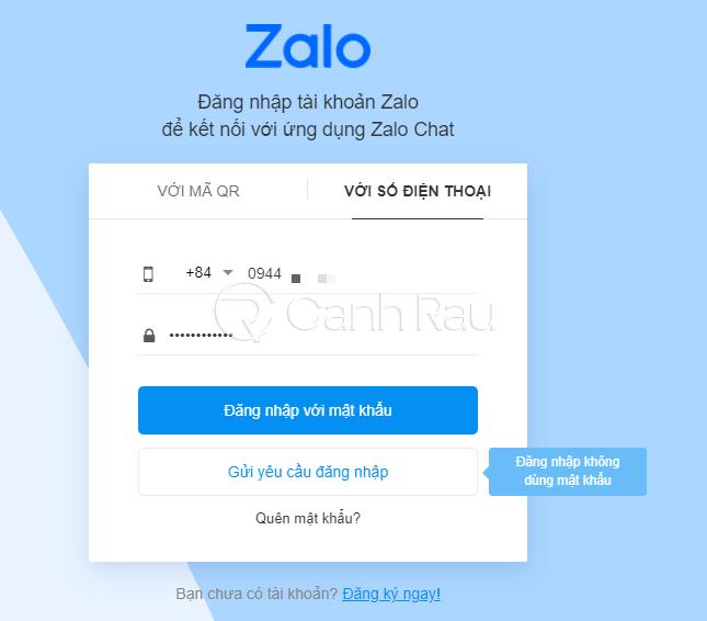 Hướng dẫn cách đăng nhập Zalo trên máy tính hình 1