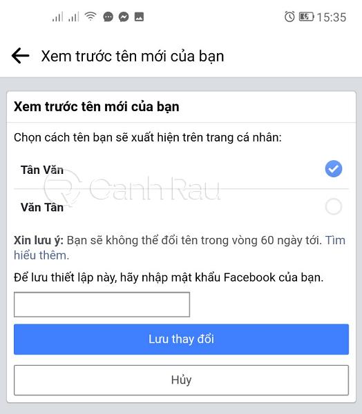 Hướng dẫn cách đổi tên Facebook hình 3
