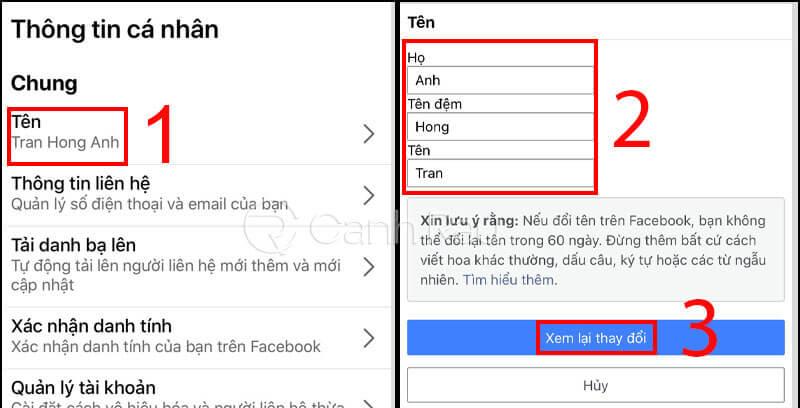 Hướng dẫn cách đổi tên Facebook hình 6