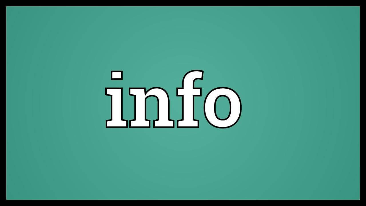 Info là gì hình 1