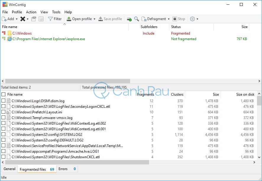 Phần mềm chống phân mảnh ổ cứng tốt nhất hình 9