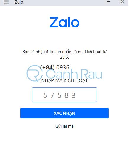 Cách đổi mật khẩu Zalo hình 10