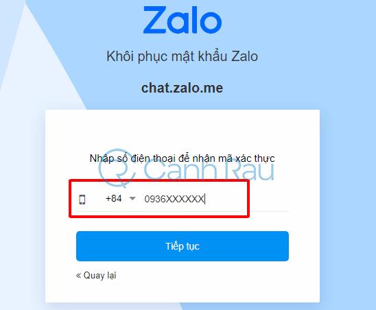 Cách đổi mật khẩu Zalo hình 2
