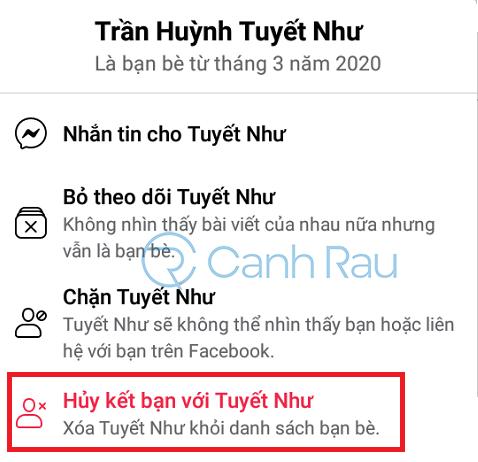 Cách hủy kết bạn trên Facebook nhanh hình 10