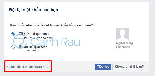 Cách lấy lại mật khẩu Facebook hình 20