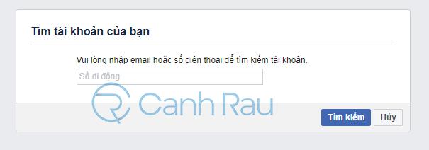 Cách lấy lại mật khẩu Facebook hình 4