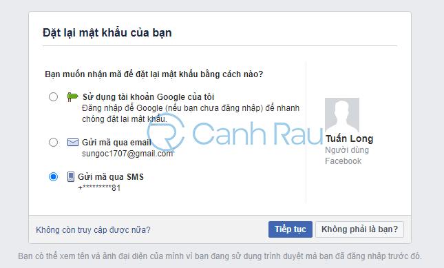 Cách lấy lại mật khẩu Facebook hình 5