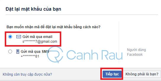Cách lấy lại mật khẩu Facebook hình 9