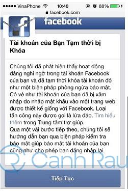Cách lấy lại tài khoản Facebook bị khóa hình 1
