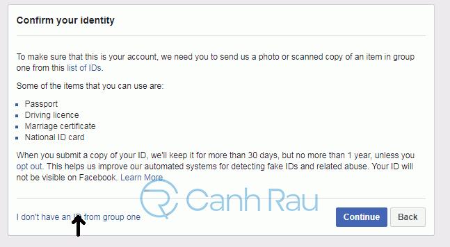 Cách lấy lại tài khoản Facebook bị khóa hình 9