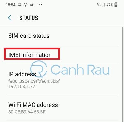 Cách check IMEI điện thoại Samsung hình 6