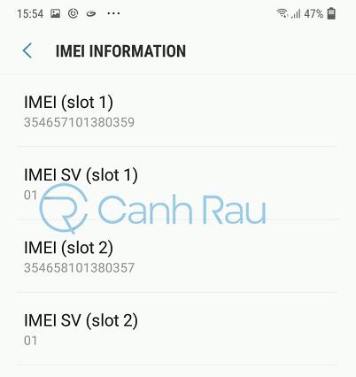 Cách check IMEI điện thoại Samsung hình 7
