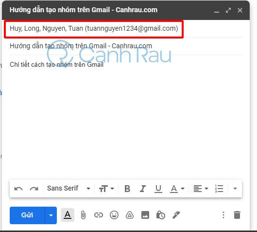 Cách tạo nhóm trong Gmail hình 17