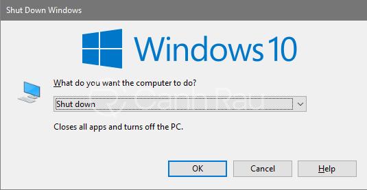 Cách tắt máy tính bằng bàn phím nhanh hình 3