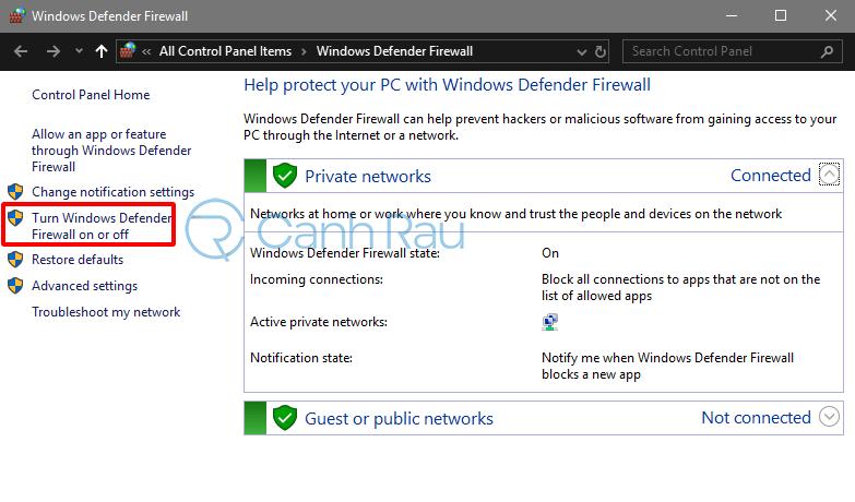 Cách tắt tường lửa Windows 10 hình 10