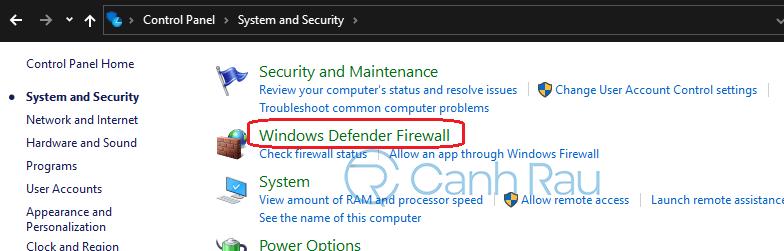 Cách tắt tường lửa Windows 10 hình 9