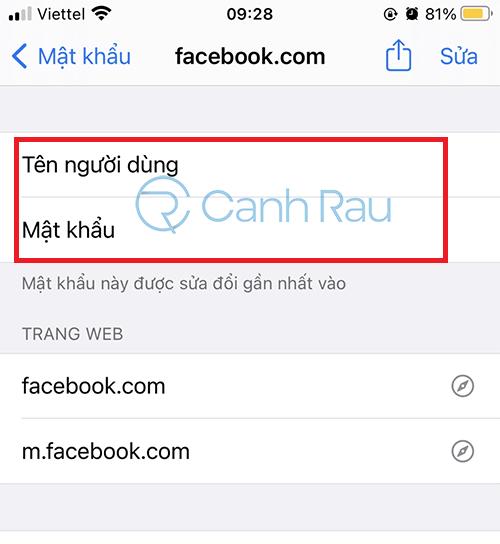 Cách xem mật khẩu Facebook của mình hình 7