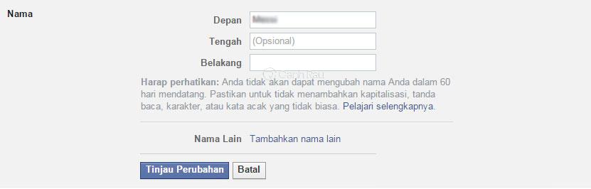 Hướng dẫn cách đặt tên Facebook 1 chữ hình 6