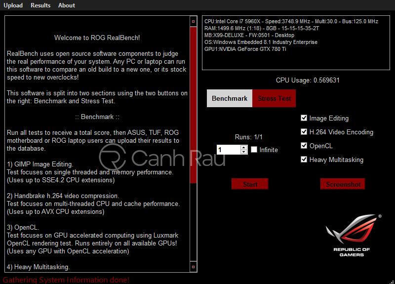Phần mềm benchmark để đo hiệu năng máy tính hình 10
