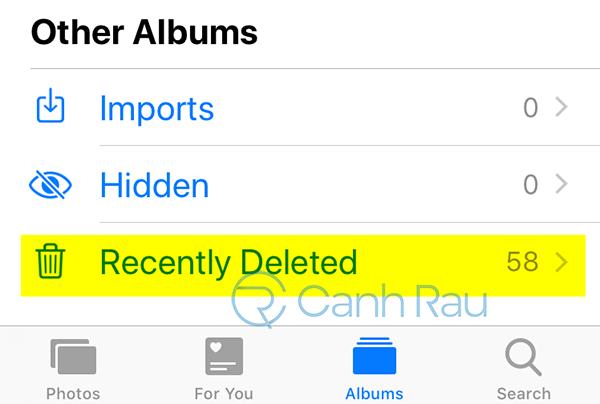 Cách khôi phục ảnh đã xóa trên iPhone hình 1