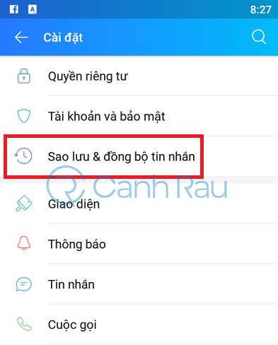 Cách khôi phục tin nhắn trên Zalo hình 2