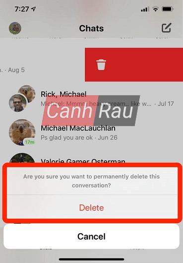 Cách xóa tin nhắn trên Messenger hình 8