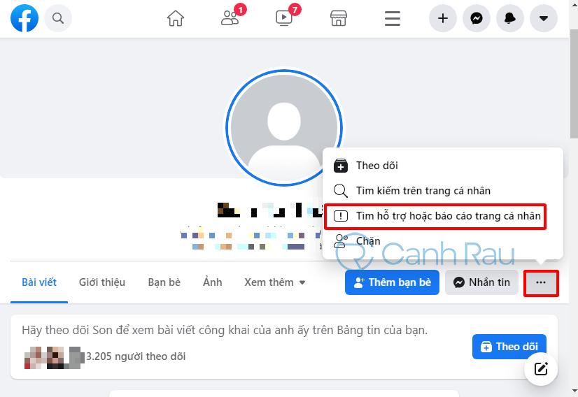 Hướng dẫn report người khác trên Facebook hình 1