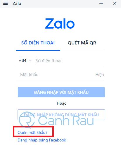 Quên mật khẩu Zalo phải làm sao hình 10