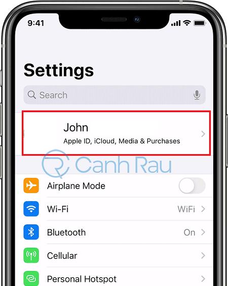 Sửa lỗi không sao lưu được danh bạ trên iCloud hình 1