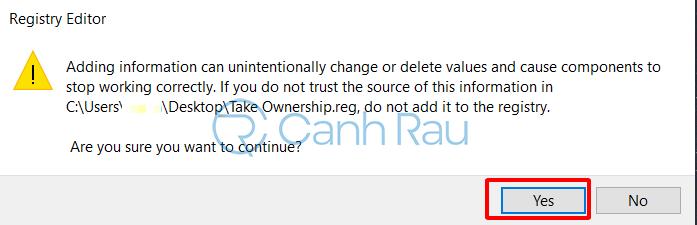 Cách bật tính năng Take Ownership trên Windows 10 hình 4