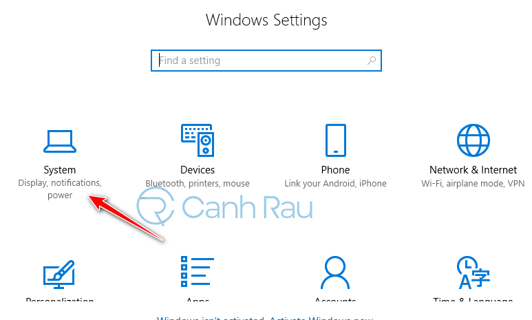 Cách chỉnh cỡ chữ trên màn hình Windows 10 hình 2