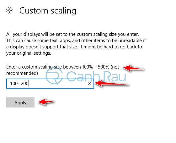 Cách chỉnh cỡ chữ trên màn hình Windows 10 hình 6