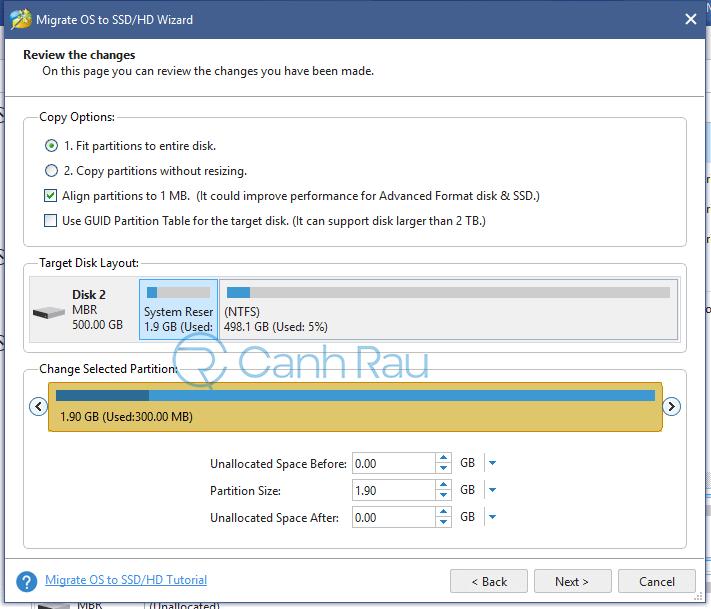 Cách chuyển hệ điều hành Windows từ HDD sang SSD hình 4