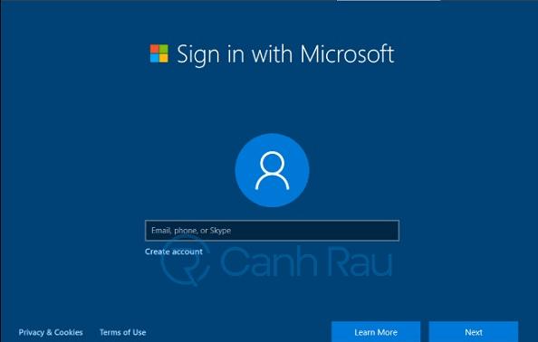 Cách đăng nhập tài khoản Microsoft trên Windows 10 hình 1