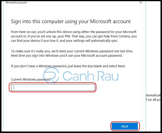 Cách đăng nhập tài khoản Microsoft trên Windows 10 hình 7