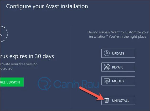 Cách gỡ cài đặt Avast Free Antivirus khỏi máy tính hình 7