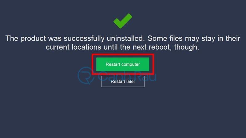 Cách gỡ cài đặt Avast Free Antivirus khỏi máy tính hình 9