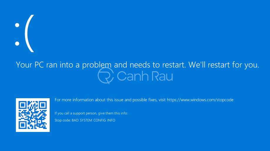 Cách sửa lỗi Your PC ran into a problem hình 1
